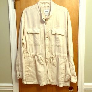 Brand new Women's Army Style Linen Jacket!